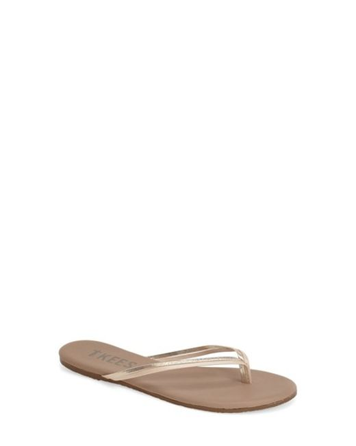 TKEES | Natural 'Duos' Flip Flop | Lyst