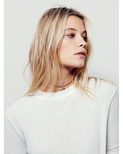 Free People | White We The Free Wander Mock Neck Tee | Lyst