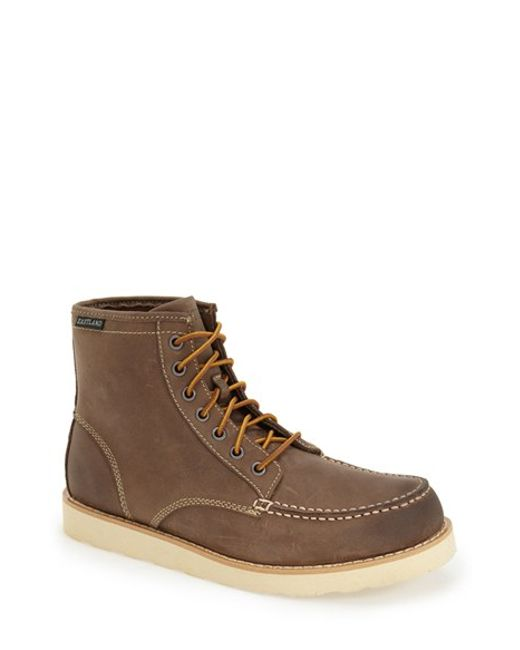 Eastland | Gray 'lumber Up' Moc Toe Boot for Men | Lyst