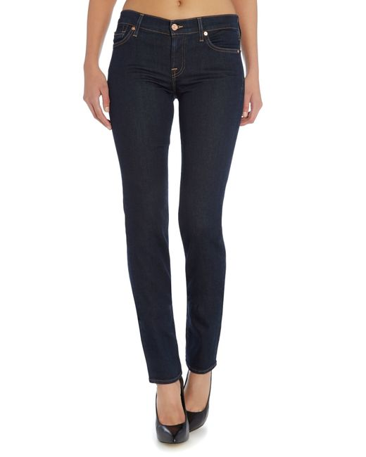 7 for all mankind roxanne slim jeans in long dark beach in. Black Bedroom Furniture Sets. Home Design Ideas
