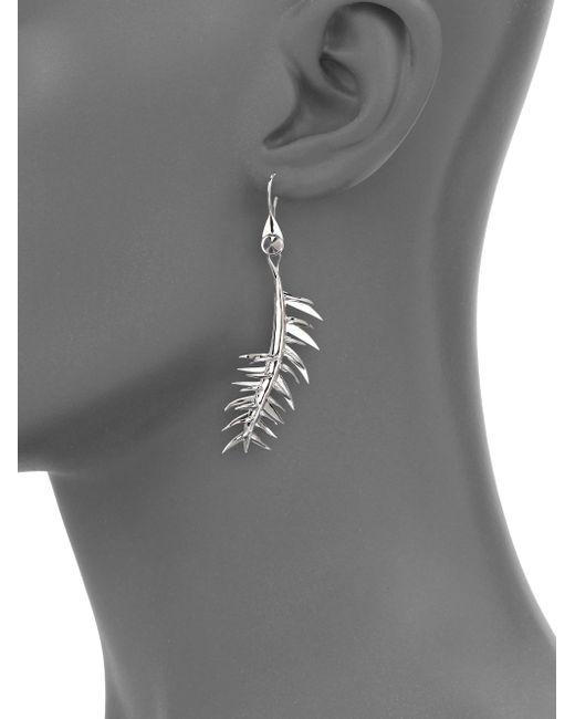 Eddie Borgo | Metallic Frond Drop Earrings | Lyst