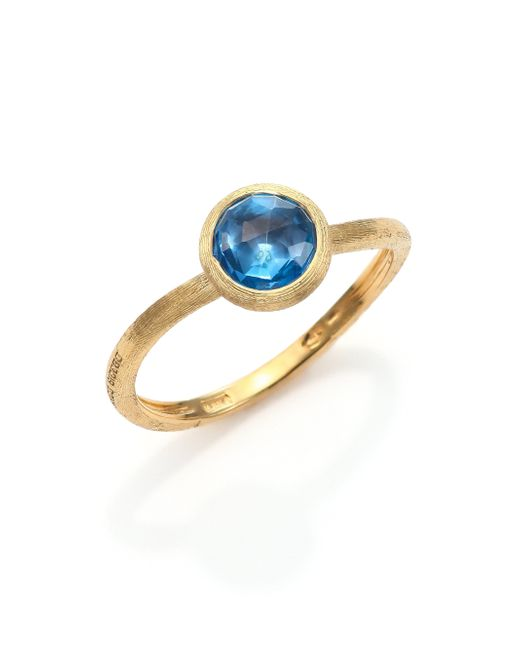 Marco Bicego | Jaipur Blue Topaz & 18k Yellow Gold Ring | Lyst
