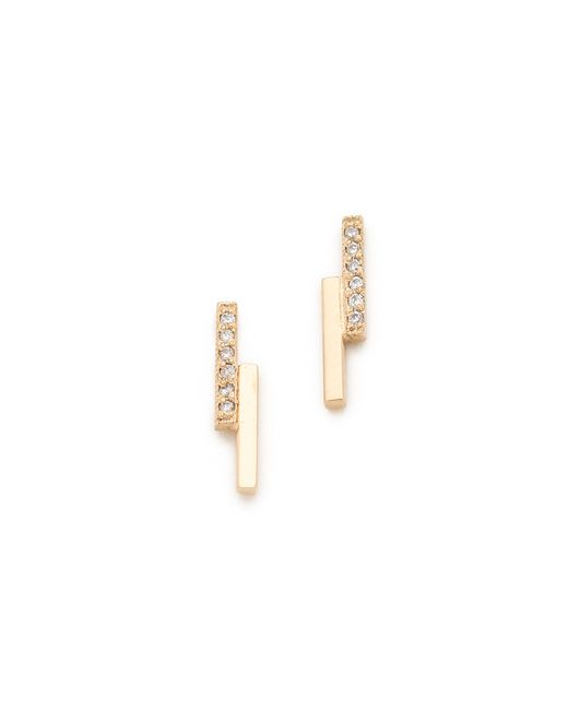 Zoe Chicco | Metallic Staggered Bar Stud Earrings | Lyst