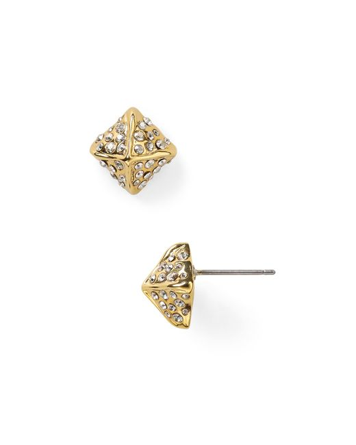Alexis Bittar | Metallic Miss Havisham Crystal Pyramid Stud Earrings | Lyst