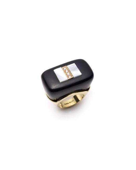 Kara Ross | Black Gold And Diamond Jet Ring | Lyst