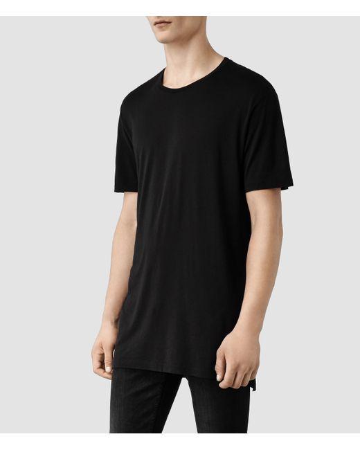 AllSaints | Black Tower Crew T-shirt for Men | Lyst