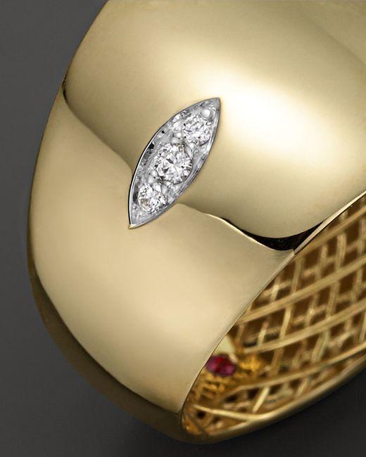 Roberto Coin   Metallic 18k Yellow And White Gold Diamond Golden Gate Ring   Lyst