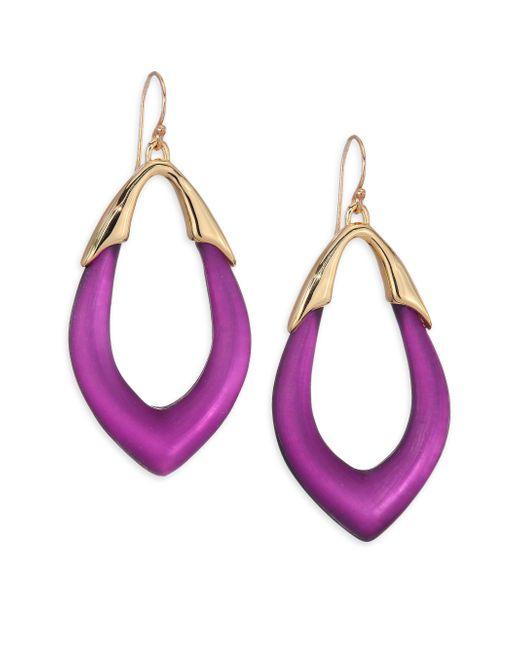 Alexis Bittar | Purple Lucite Marquis Orbit Drop Earrings | Lyst