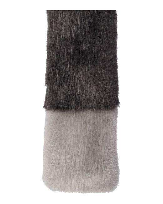 Helen Moore | Gray Exclusive Tippet Faux Fur Scarf | Lyst