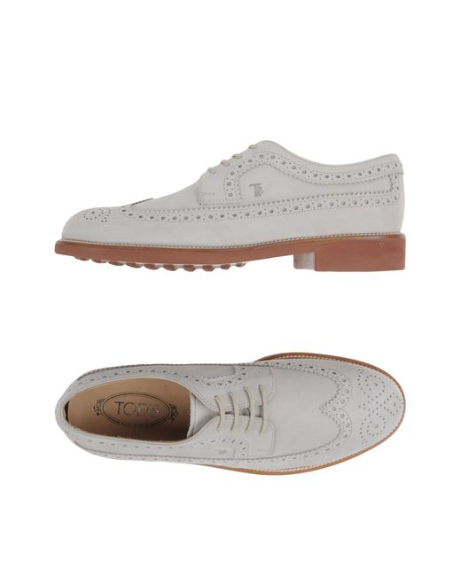 Tod's | Gray Lace-up Shoes for Men | Lyst