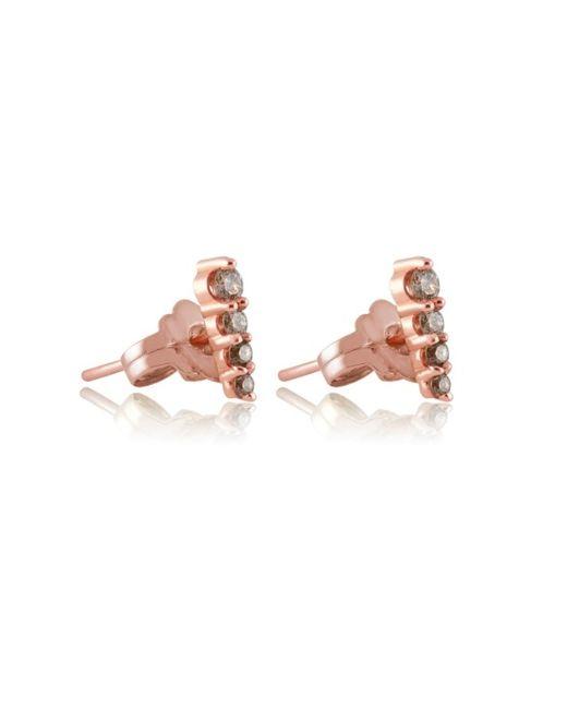 Anna Sheffield | Metallic Pointe Champagne Diamond Earrings | Lyst