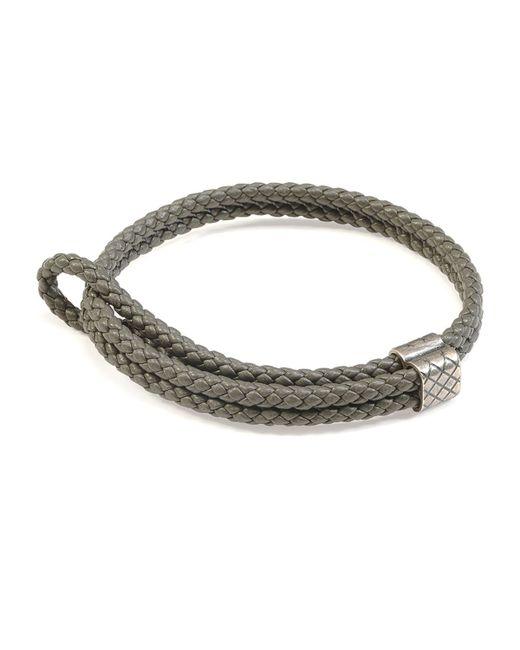Bottega Veneta | Gray Men's Woven Leather Bracelet for Men | Lyst
