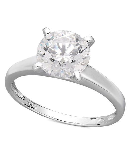 Arabella | Metallic Swarovski Zirconia Solitaire Engagement Ring (3-1/3 Ct. T.w.) | Lyst