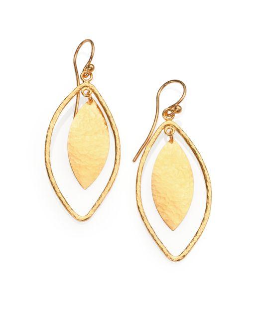 Gurhan | Metallic Willow 24k Yellow Gold Leaf Drop Earrings | Lyst