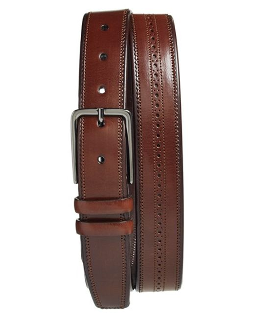 Mezlan | Brown 'parma' Belt for Men | Lyst