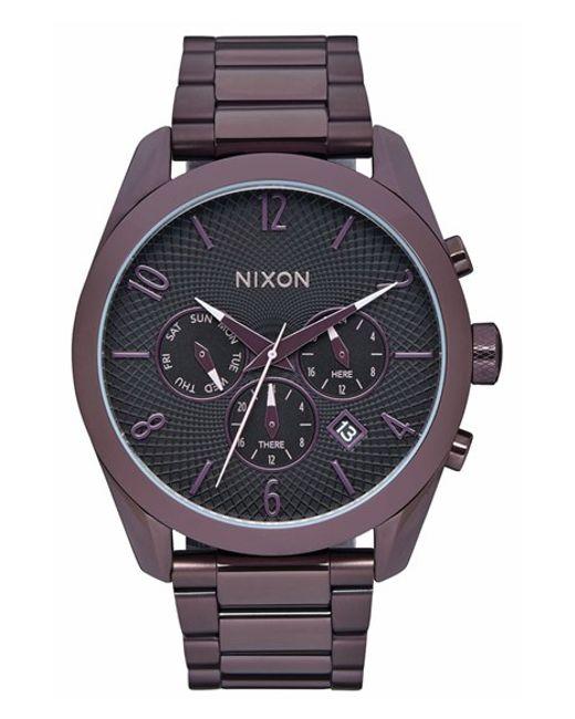 Watch Links Nixon Purple: Nixon 'bullet' Guilloche Chronograph Bracelet Watch In