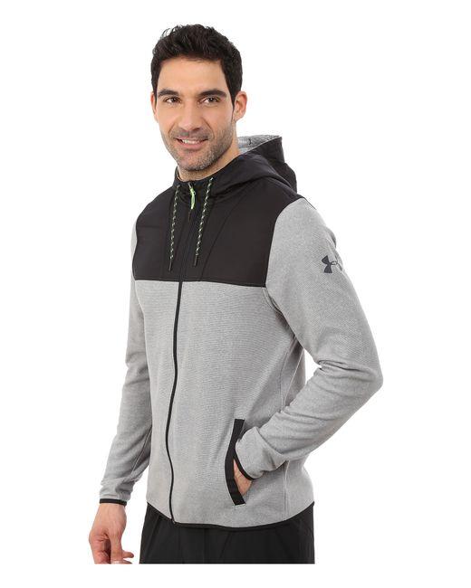 Under Armour | Gray Ua Coldgear® Infrared Survival Fleece Full Zip Hoodie for Men | Lyst