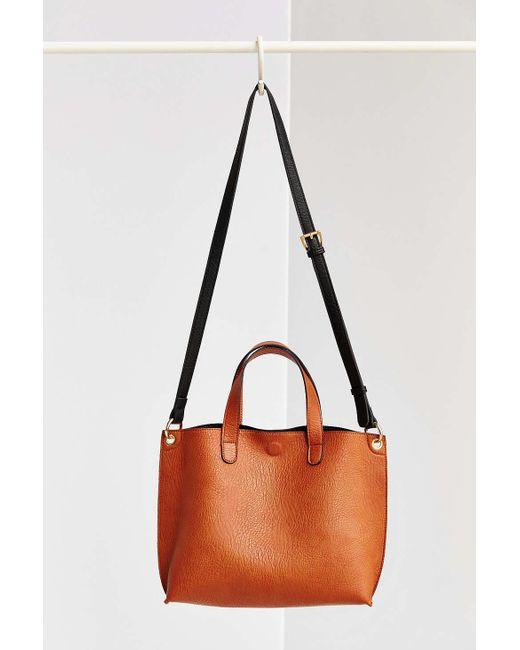 Urban Outfitters   Black Mini Reversible Vegan Leather Tote Bag   Lyst