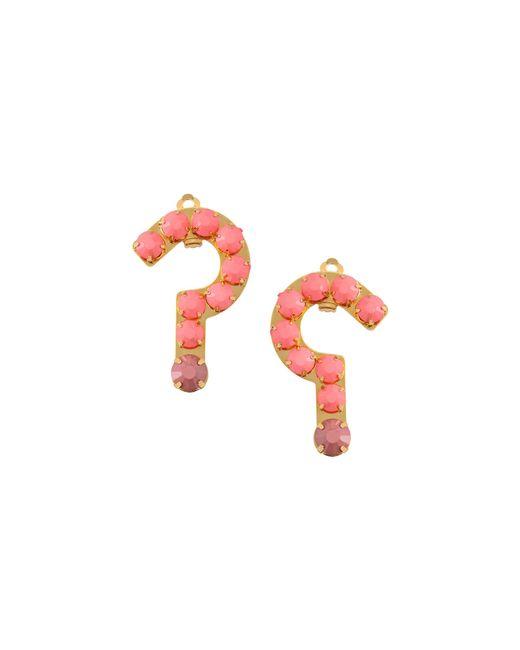 Stella McCartney | Pink Question Mark Earrings | Lyst