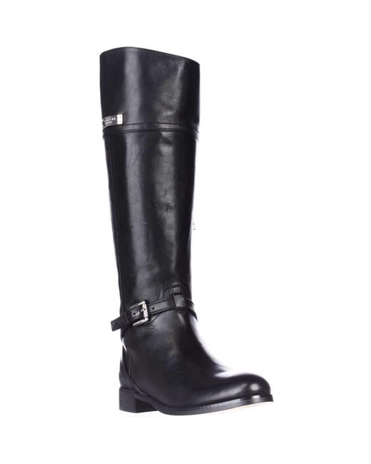 coach micha wide calf knee high boots in black