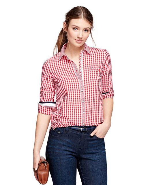 Brooks Brothers | Red Cotton Gingham Shirt | Lyst