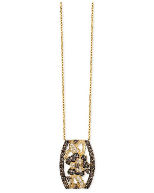 Le Vian | Metallic Chocolatier Chocolate And White Diamond Pendant Necklace (1-1/4 Ct. T.w.) In 14k Gold | Lyst