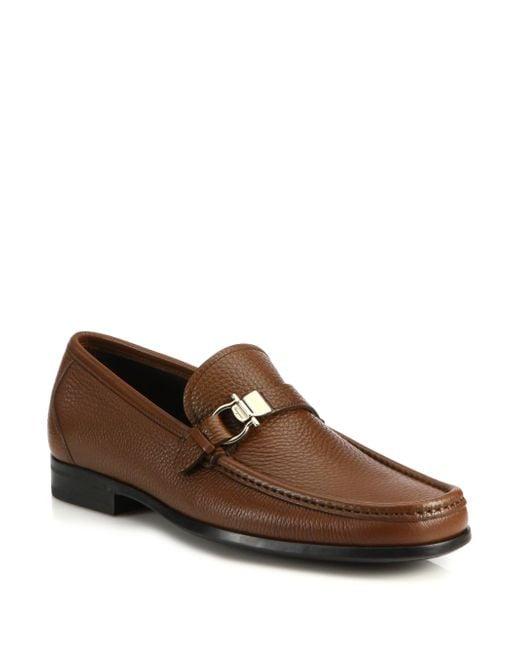 Ferragamo | Brown Muller Bit Leather Loafers for Men | Lyst