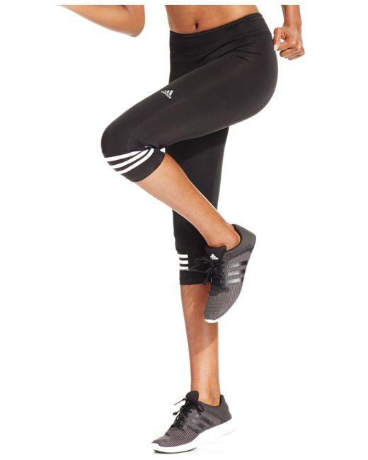 Adidas Originals | Black Response Climalite Three-quarter Leggings | Lyst