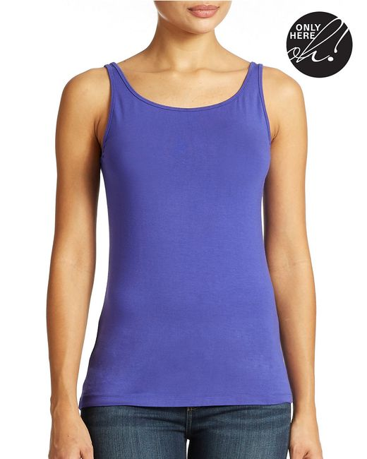 Lord & Taylor | Blue Iconic Fit Slimming Tank Top | Lyst