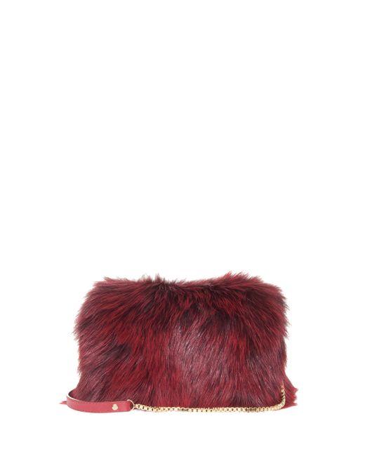 Elie Saab | Red Fox Fur Clutch | Lyst