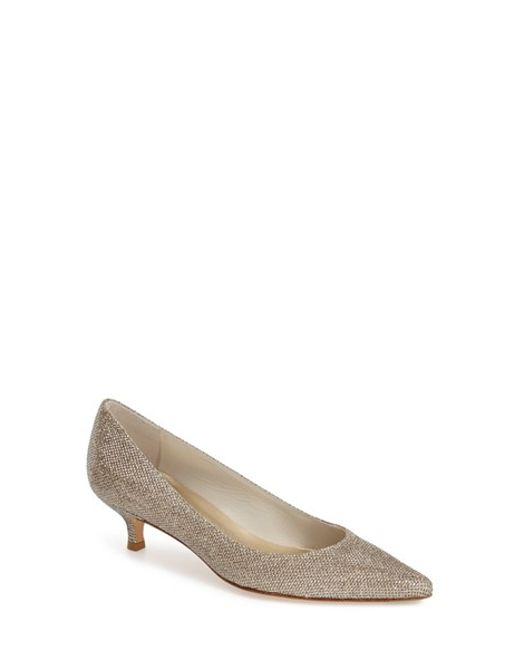 Stuart Weitzman | Natural Poco Metallic Canvas Pumps | Lyst