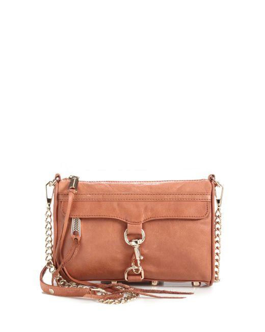 Rebecca Minkoff | Brown Mini Mac Convertible Crossbody Bag | Lyst