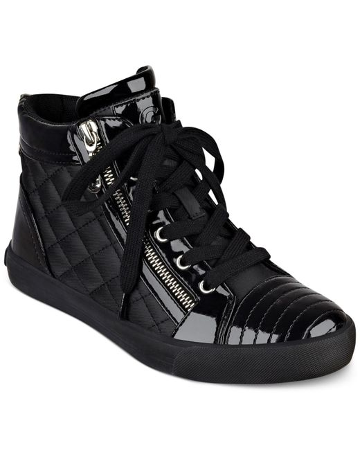 Womens All Black High Top Sneakers