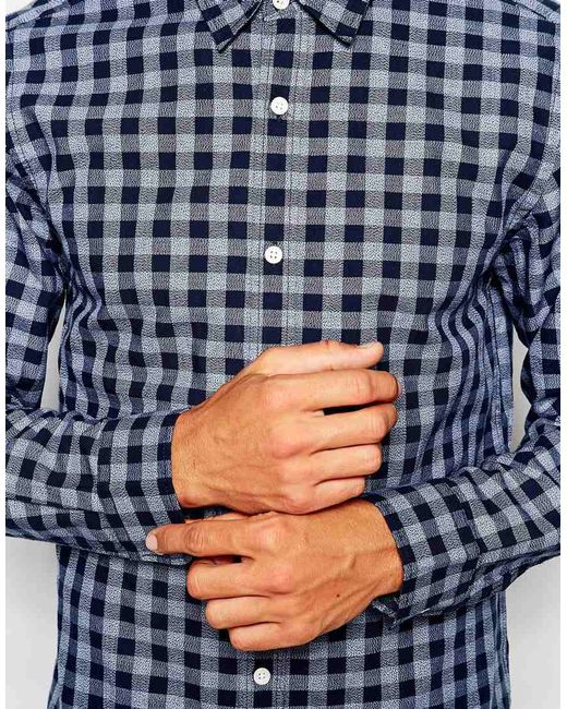 SELECTED | Blue Shirt for Men | Lyst