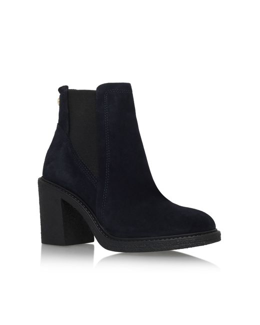 Carvela Kurt Geiger | Blue Sparl High Block Heel Ankle Boots | Lyst