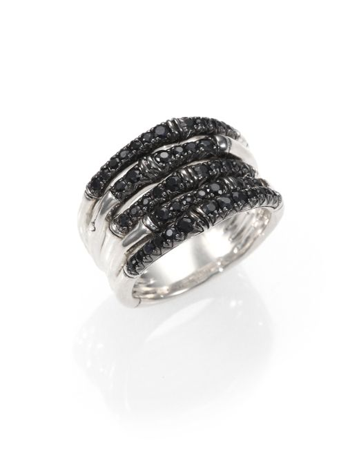 hardy bamboo black sapphire sterling silver multi