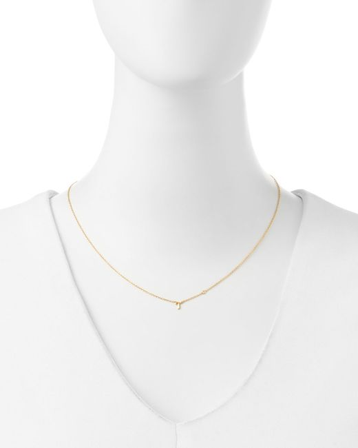 Shy By Sydney Evan   Metallic T Initial Pendant Necklace With Diamond   Lyst