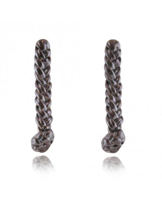 Rachael Ruddick | Black Plaited Earrings | Lyst