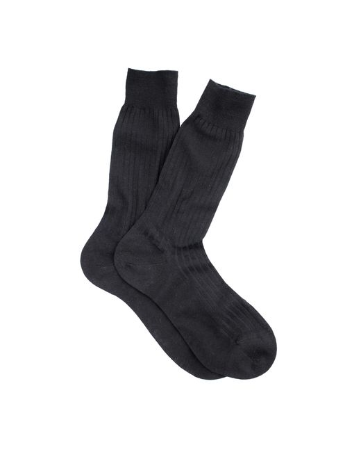 J.Crew | Black Pantherella Merino Dress Socks for Men | Lyst