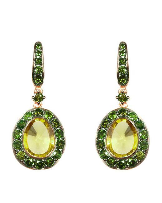 Annoushka | Green Dusty Diamonds Olive Quartz Earrings | Lyst