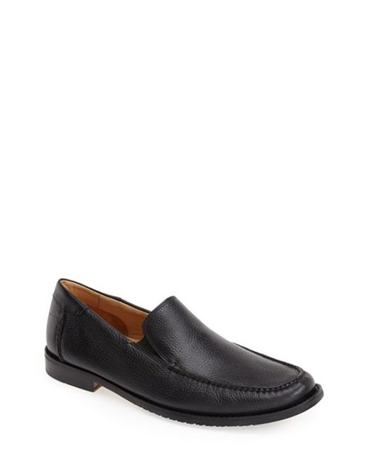 Tommy Bahama | Black 'faxon' Leather Slip-on for Men | Lyst