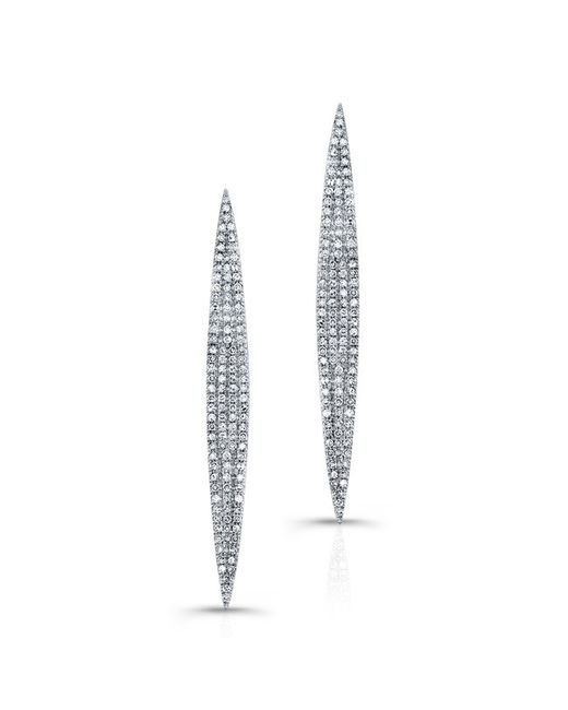 Anne Sisteron | Metallic 14kt White Gold Diamond Petal Earrings | Lyst