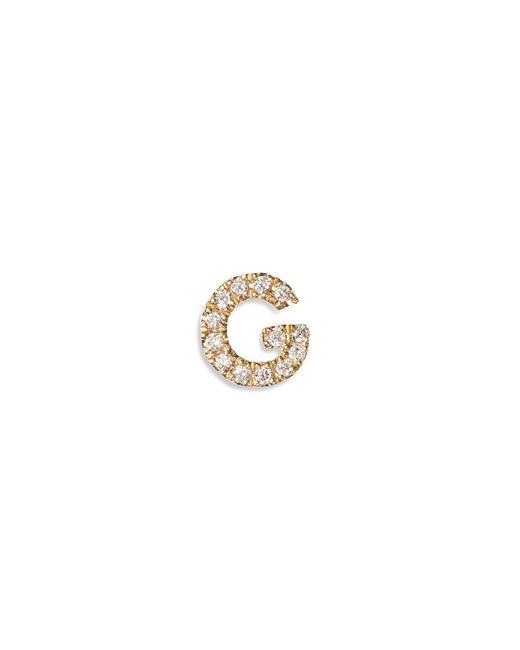Loquet London | Pink Diamond 18k Yellow Gold Letter Charm - G | Lyst