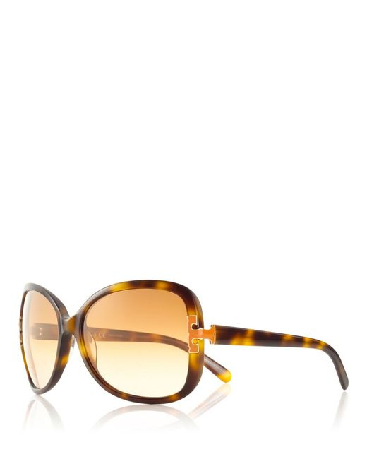 Tory Burch | Multicolor Oversized T-hinge Sunglasses | Lyst
