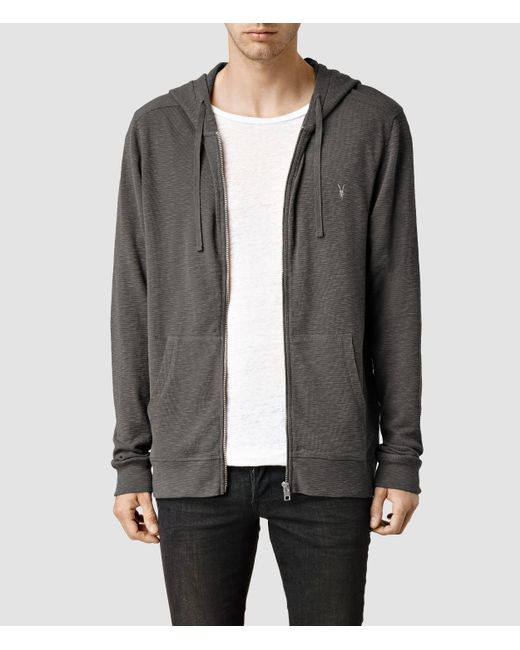 AllSaints | Gray Clash Hoody Usa Usa for Men | Lyst