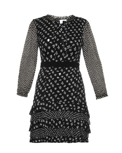 Diane von Furstenberg | Black Fionna Printed Silk Dress | Lyst