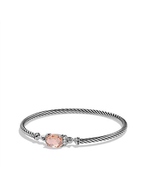 David Yurman | Metallic Petite Wheaton Bracelet With Morganite And Diamonds | Lyst