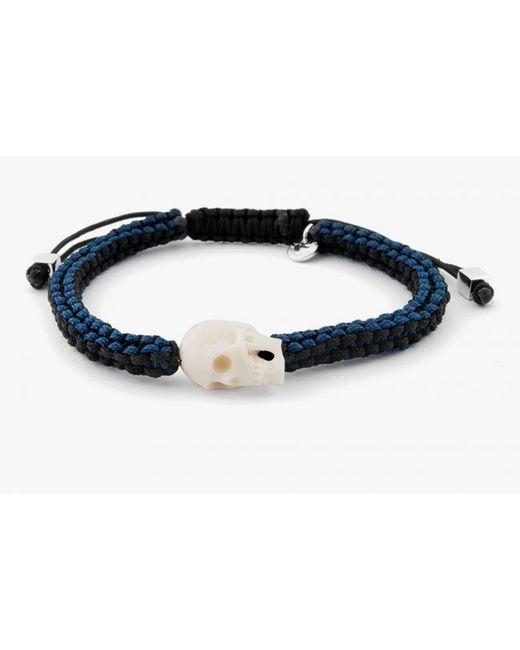 Tateossian | Black Braided Leather Scoubidou Bracelet for Men | Lyst