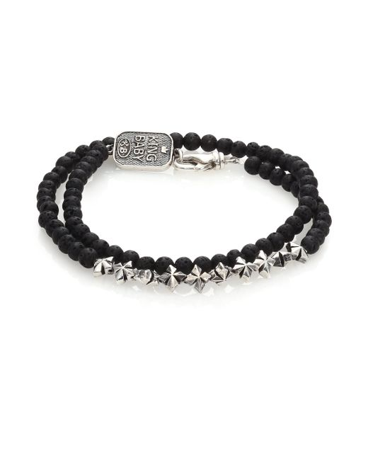King Baby Studio | Black Double-wrap Lava Rock Bracelet | Lyst