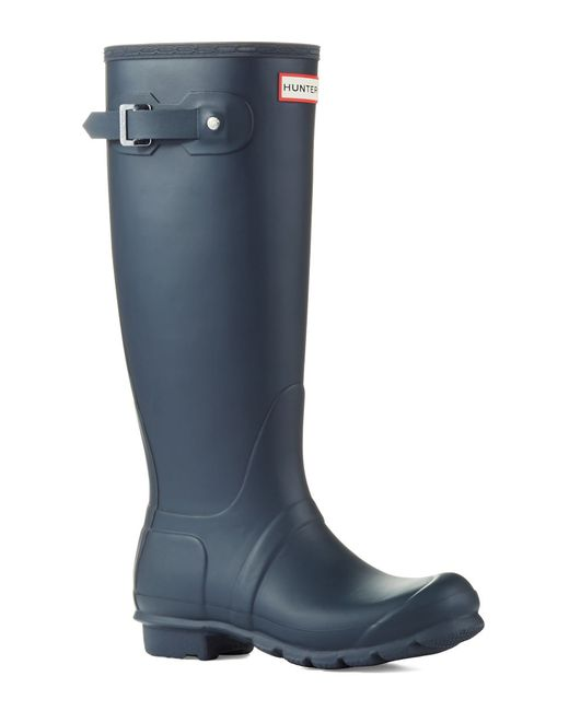 Hunter | Blue Original Tall Wellington Rain Boots | Lyst